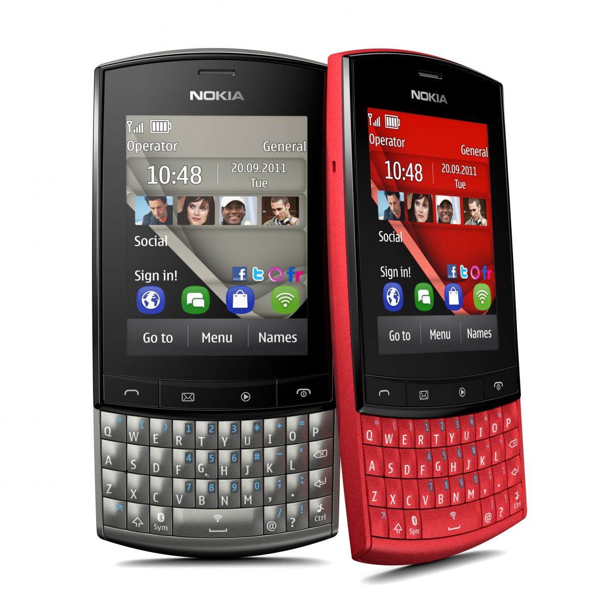 Nokia's Asha 303 device (click image for a larger version)