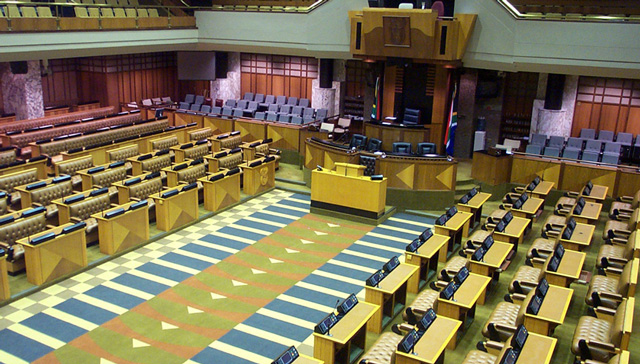 The national assembly of parliament in Cape Town