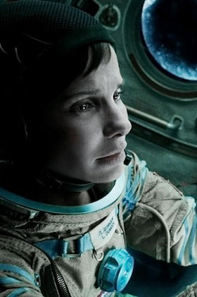 Gravity - no laughing matter for Sandra Bullock