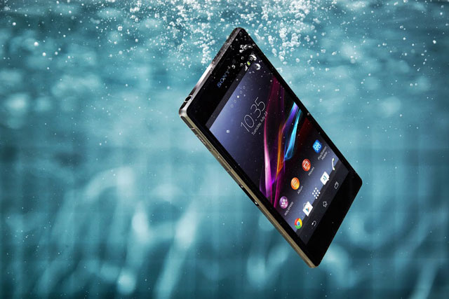 The Xperia Z1 is water resistant for depth of up to a metre for up to 30 minutes