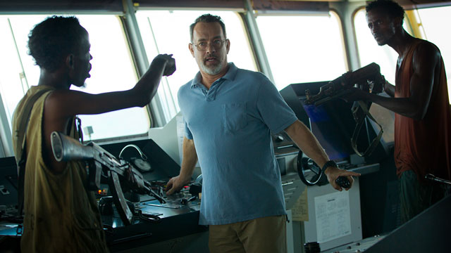 Courage under fire: Tom Hanks in the title role of Captain Phillips