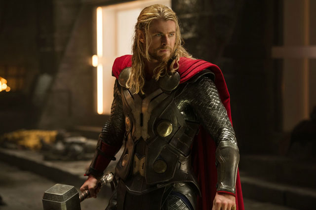 Stop, hammer time! Chris Hemsworth as the god of thunder in Thor: The Dark World
