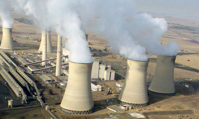 Eskom produces most of its electricity by burning coal