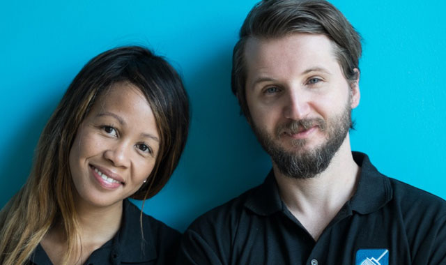 SweepSouth CEO Aisha Pandor, left, pictured with the start-up's chief technology officer, Alen Ribic
